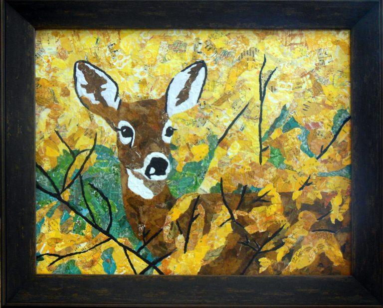 Terri Codlin Deer on woods