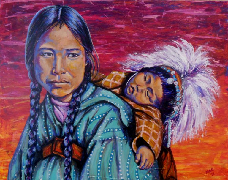 Thea McElvy Mother and Child