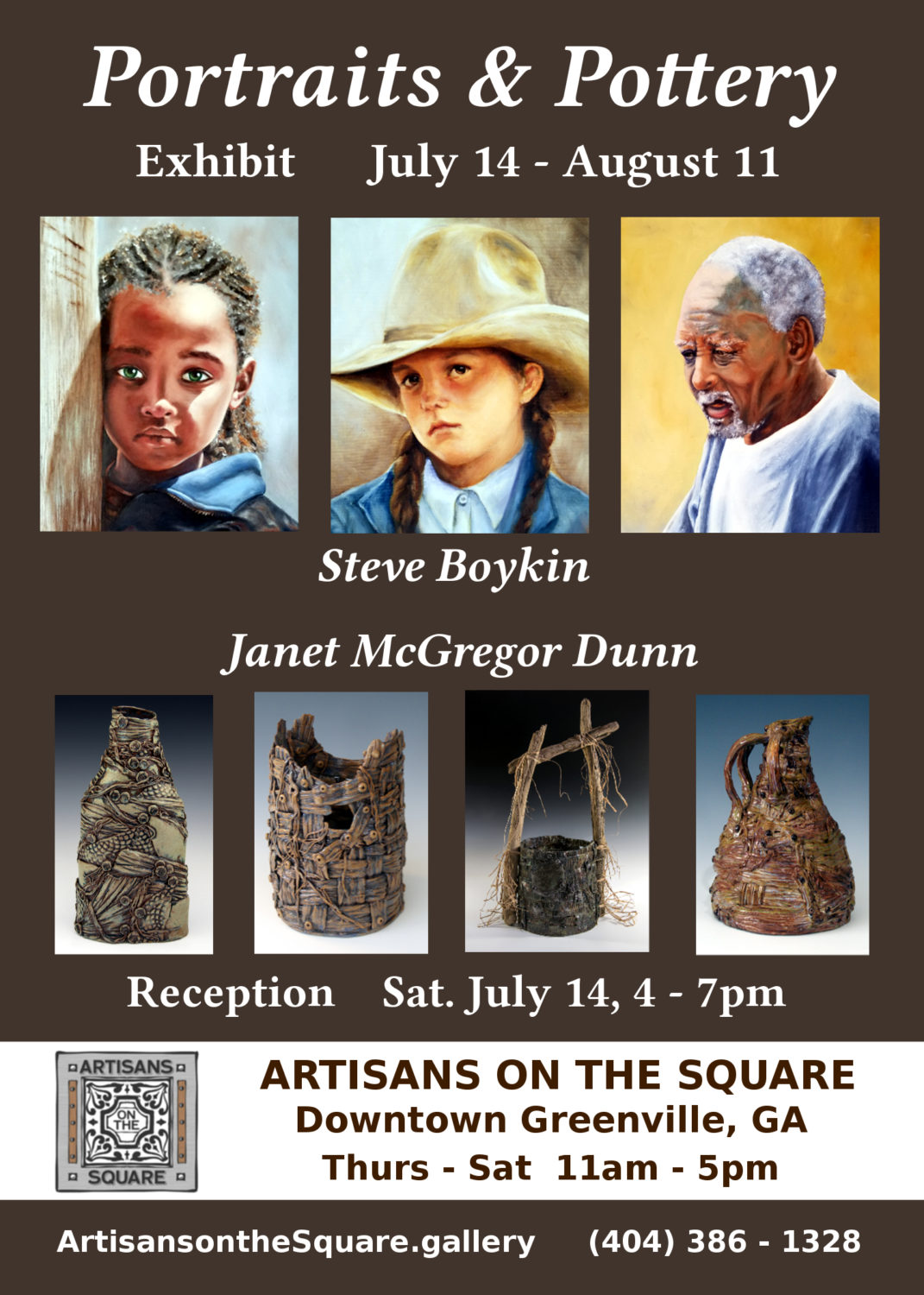Portraits & Pottery Art Show