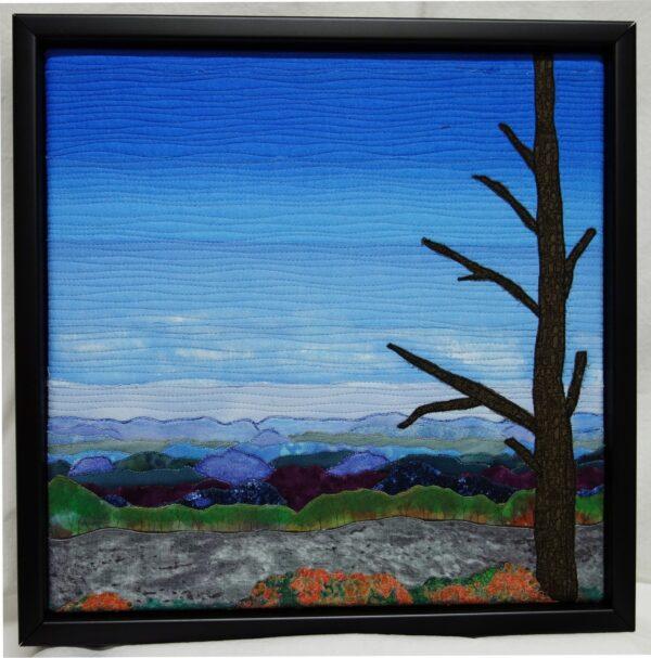 Blue on Blue 12x12 Framed $250