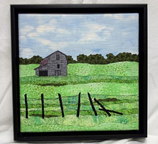 Grandpa's Farm 12x12 Framed $250