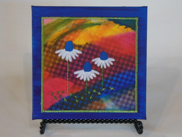 SOLD Tiny quilt on canvas 2 5x5 $45