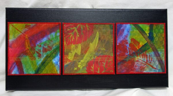 Trio 15x5 on canvas $95