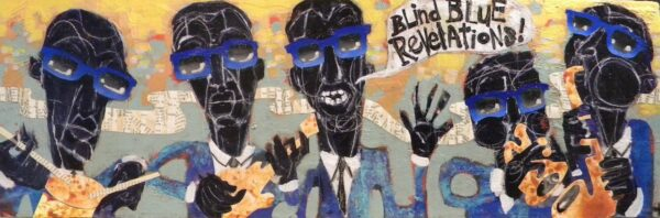 "Blind Blue Revelations – 12"" x 24"" , $250"