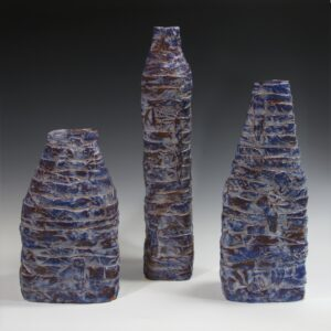 3 pieces SET blue white and rust