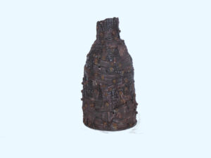 Brown Woven Vase with screws