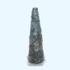 tall tinnish green vase