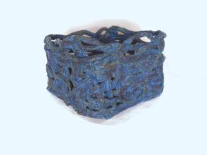 Triangular Blue Basket