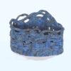 triangular blue basket front