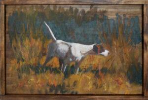 Dog on Point 1 by Steven Stinchcomb