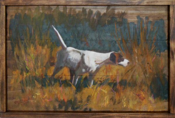 Dog on Point #1 by Steven Stinchcomb
