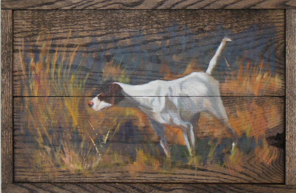 Dog on Point #2 by Steven Stinchcomb