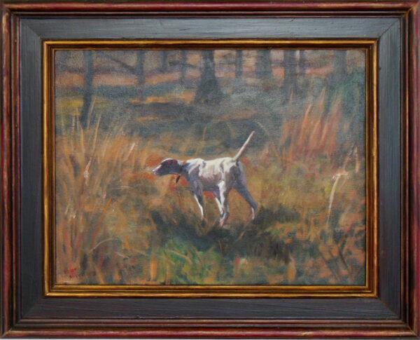 Dog on Point #3 by Steven Stinchcomb