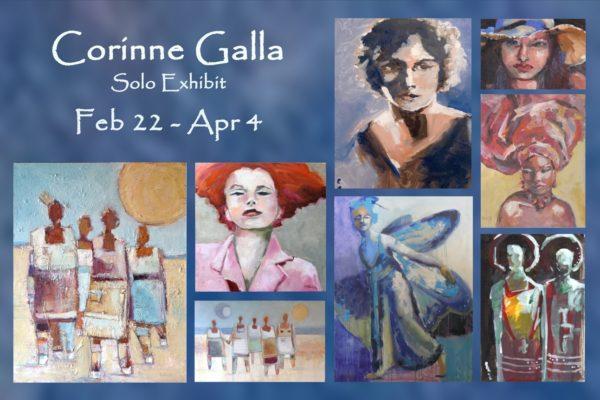 Corinne Galla Flyer Front blue