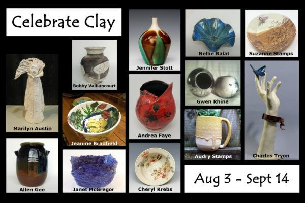 celebrate clay flyer front